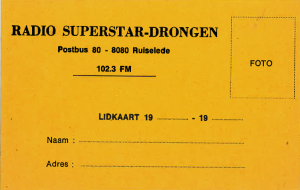 Lidkaart Drongen PNG